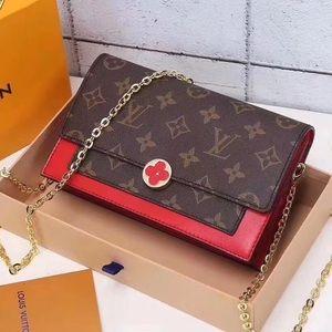 Louis Vuitton flore crossbody red